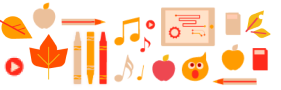 Graphic of various items related to educations